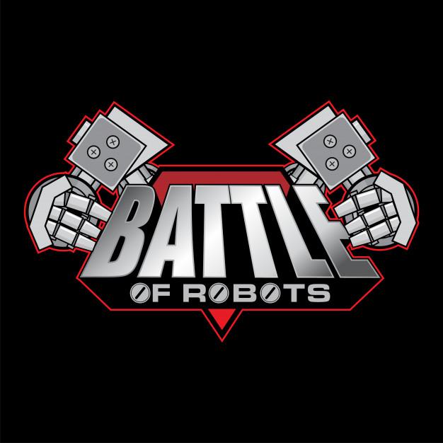 Battle of robots logo design Vector.