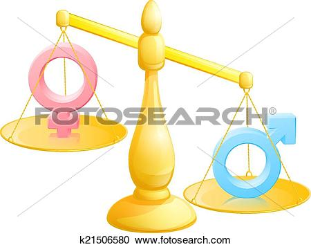 Clipart of Battle of the sexes concept k21506580.