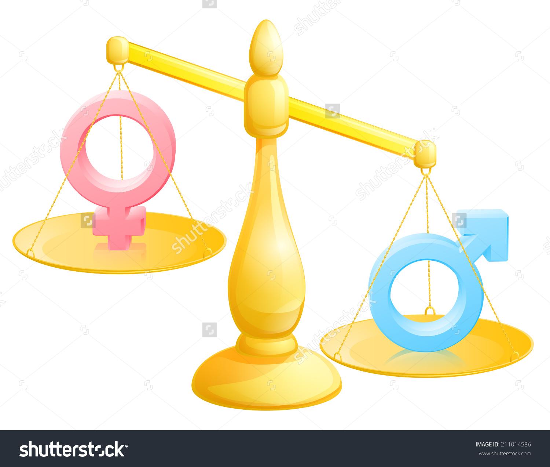 Battle Sexes Concept Male Female Symbols Stock Vector 211014586.