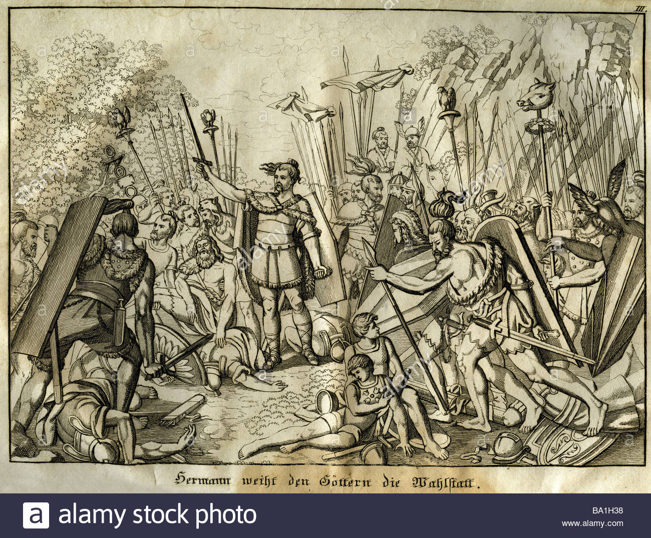 Events, Germanic Wars, Battle Of The Teutoburg Forest, 9 Ad.