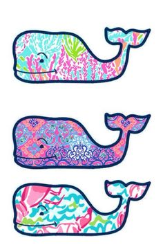 Vineyard Vines meets Lilly Pulitzer whale by GinsMonogramShoppe.