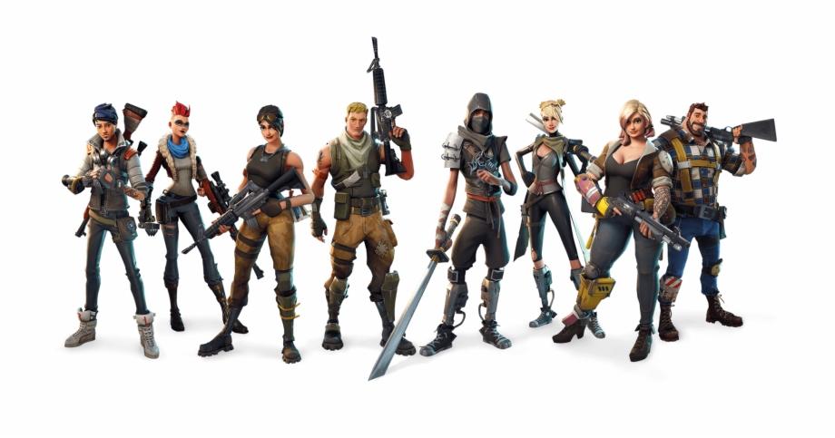 Fortnite Battle Royale Characters Png Transparent Background.