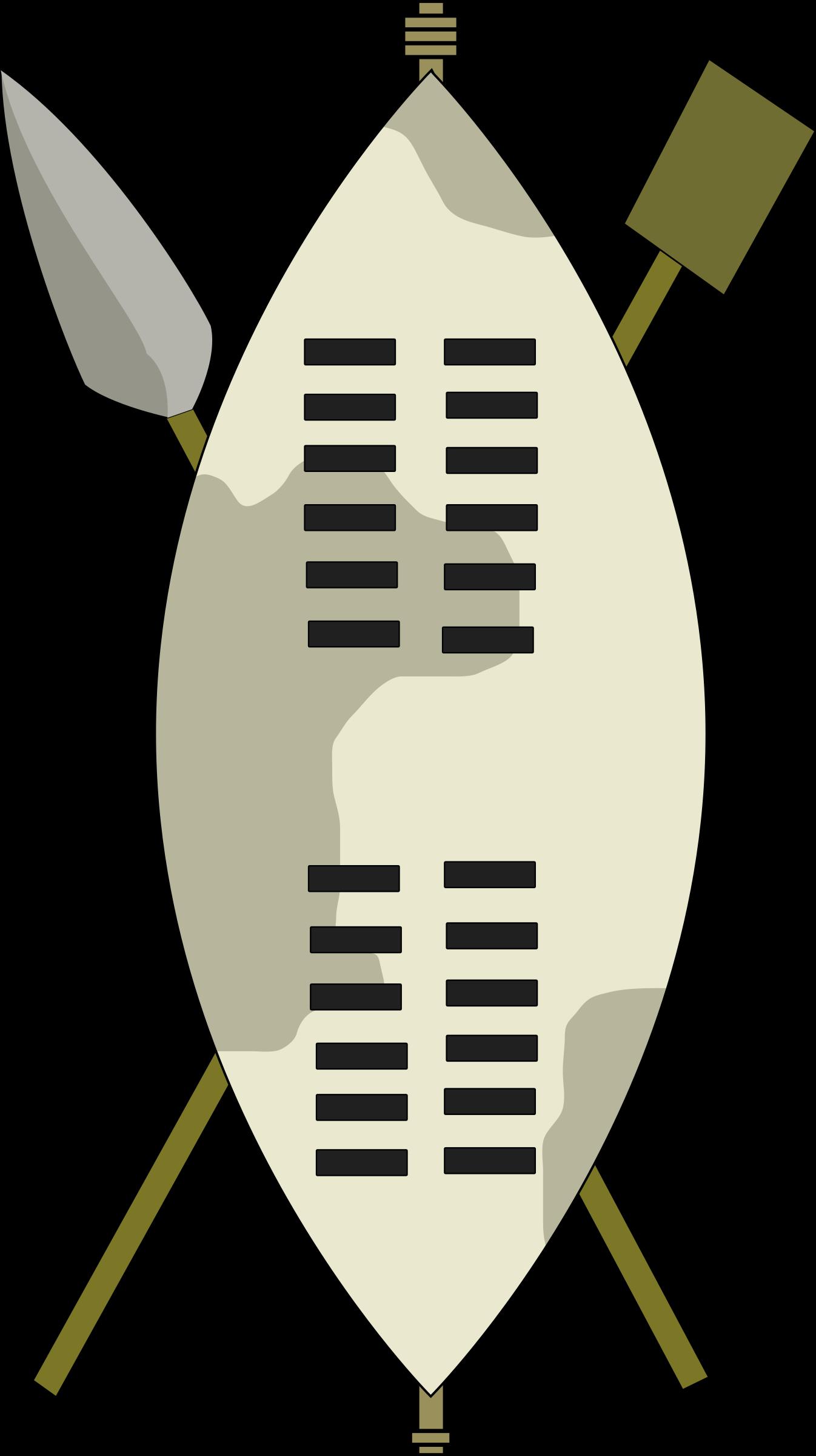 Zulu shield clipart.