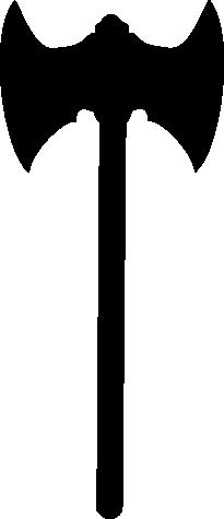 Black axe logo clipart.