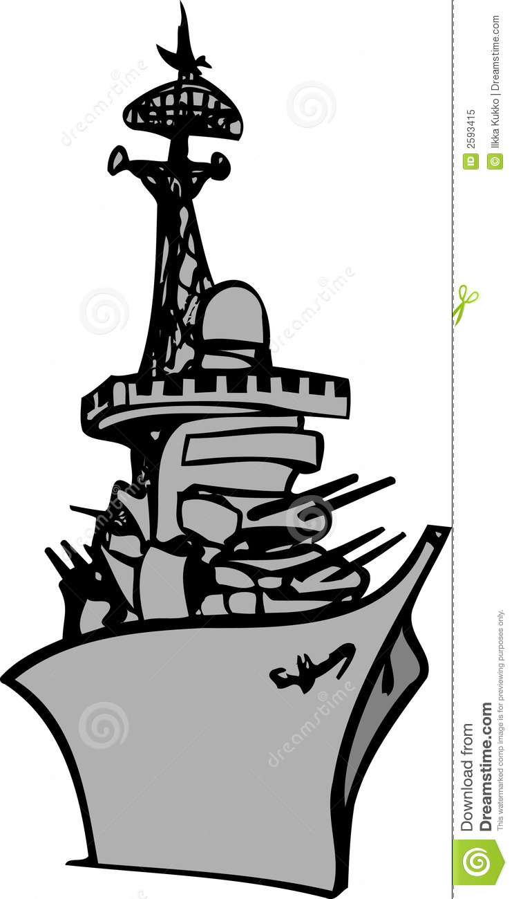 Battleship head on clipart.