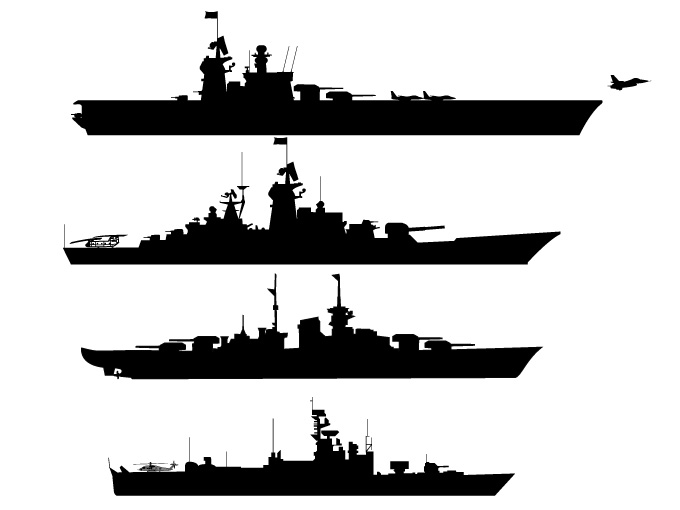 Battleship Silhouette Clipart.