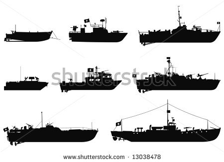 Battleship game ships clipart.
