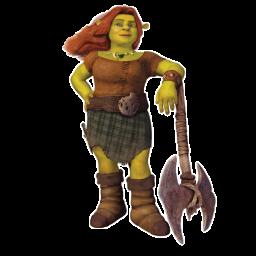 Princess Fiona Battle Suit Icon, PNG ClipArt Image.