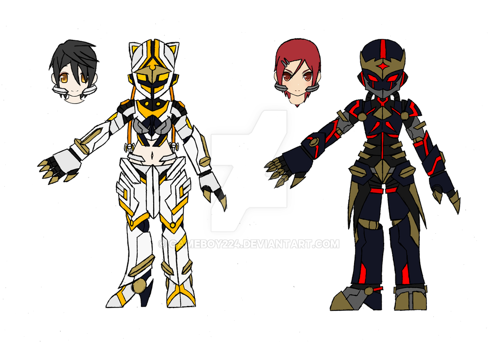 Nasod Battle Suit Overdrive: Ara and Elesis by GameBoy224 on.