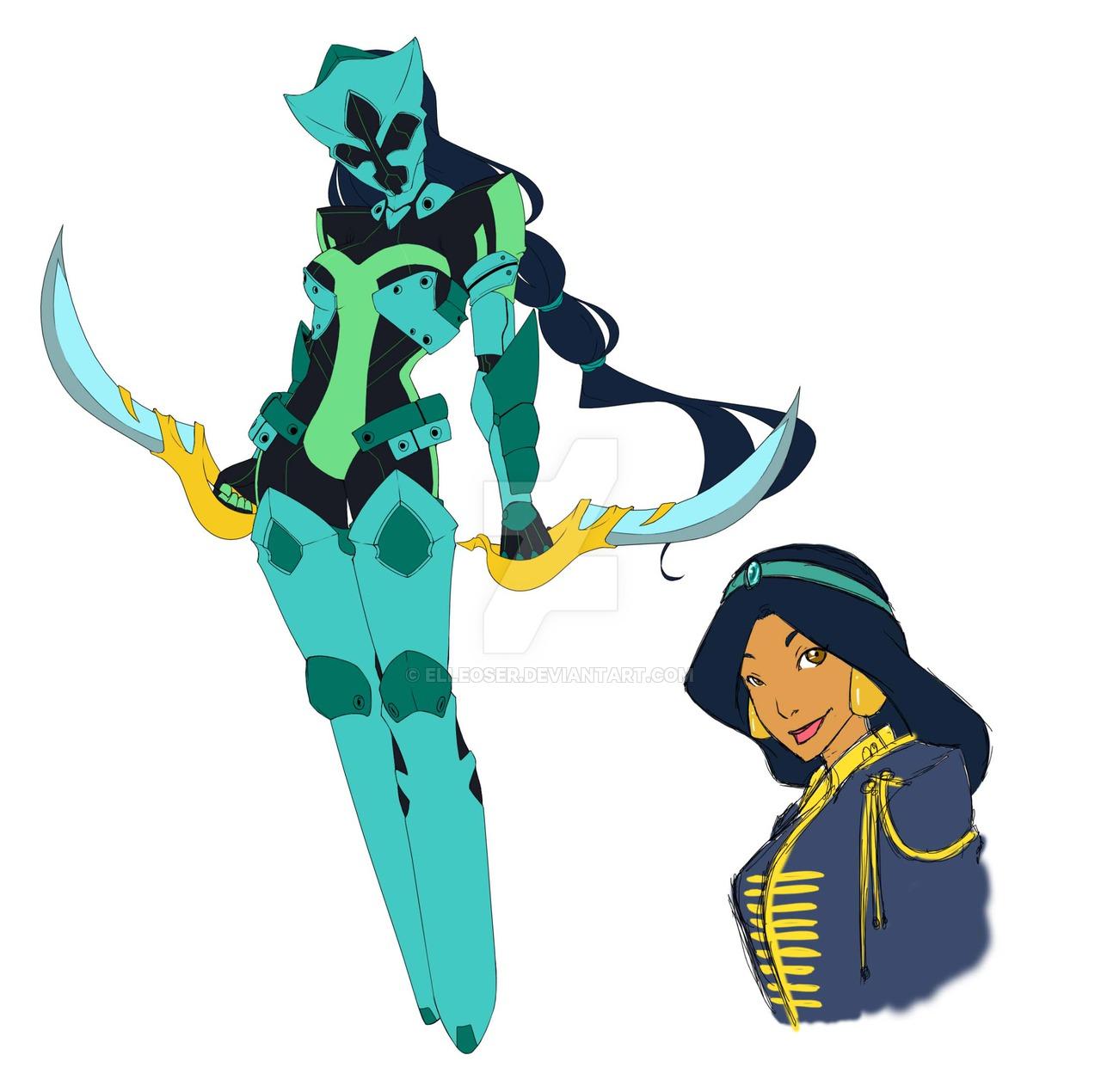 Battle Suit Jasmine by elleoser on DeviantArt.