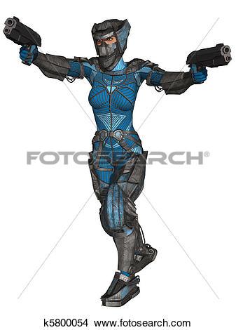 Drawings of Futuristic Battle Suit k5800054.