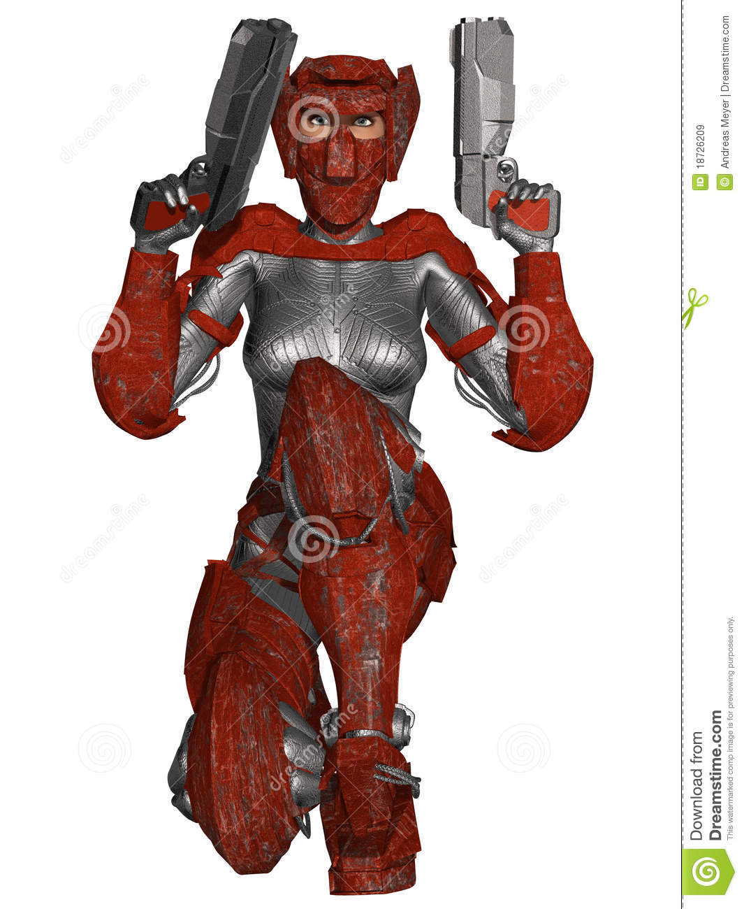 Futuristic Battle Suit Royalty Free Stock Images.