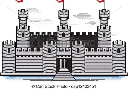 Clipart Vector of Battlements.