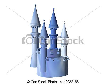 Drawing of Castle Battlements.
