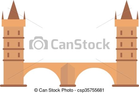 Vector of Knight medieval hill town from battlements stone castle.