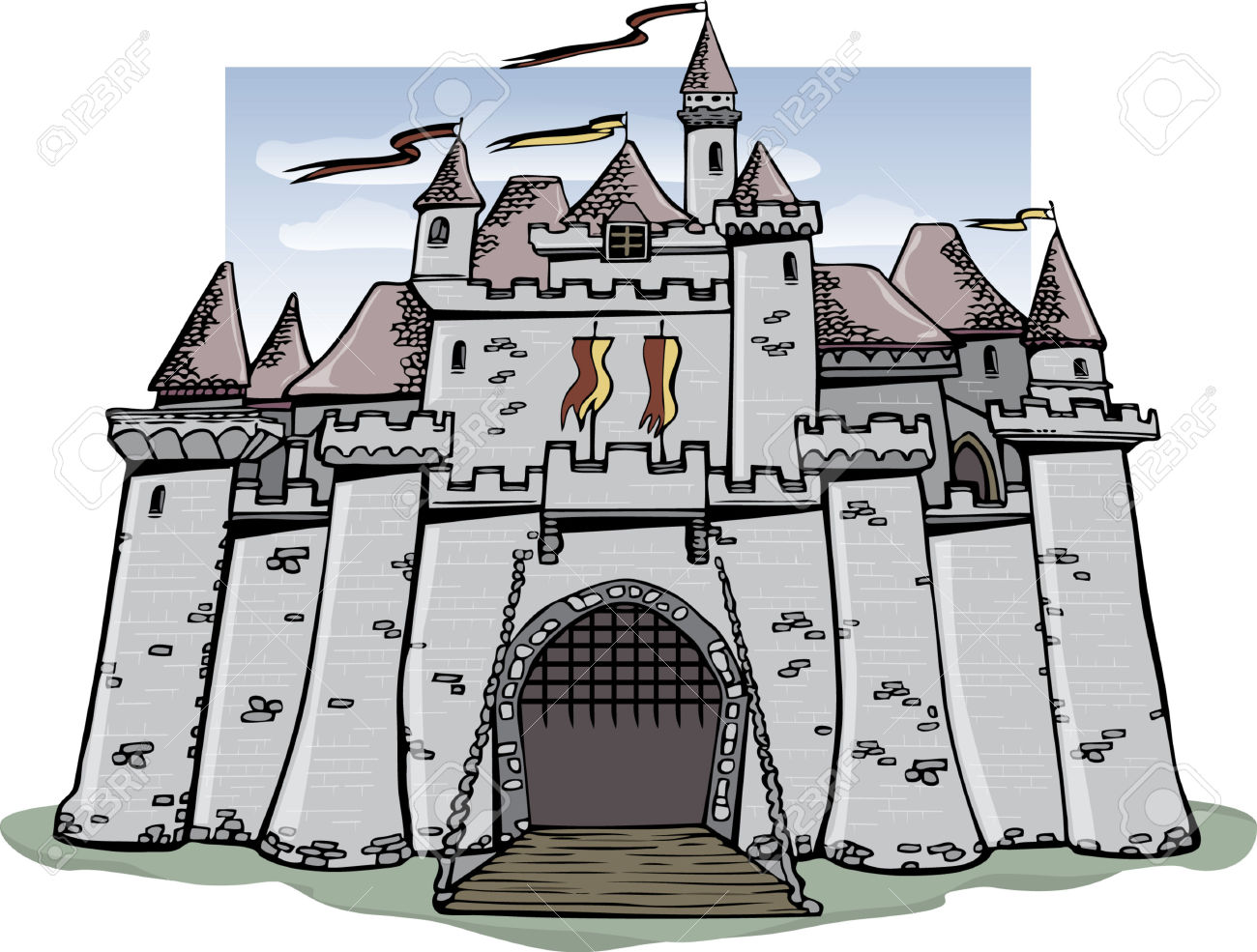 Fairytale Castle Royalty Free Cliparts, Vectors, And Stock.
