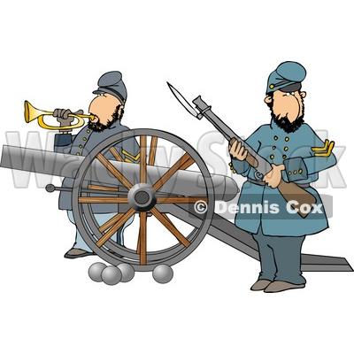 Civil War Battles Clipart.