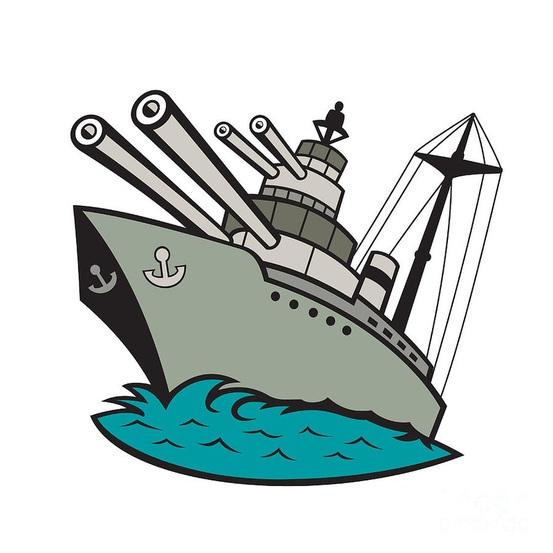 Ship Clip Art, Battleship Free Clipart.