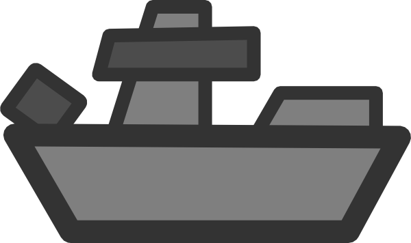 Navy Battleships Clipart.