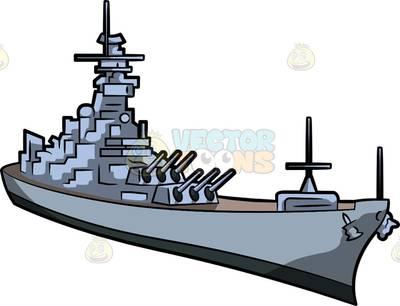 Battleship clipart navy boat, Battleship navy boat.