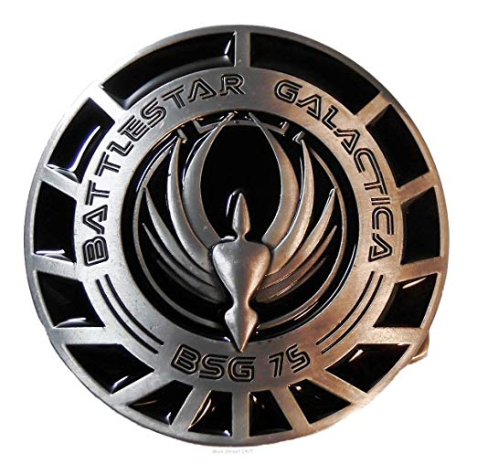 BATTLESTAR GALACTICA BSG 75 Logo Metal/Enamel BELT BUCKLE.