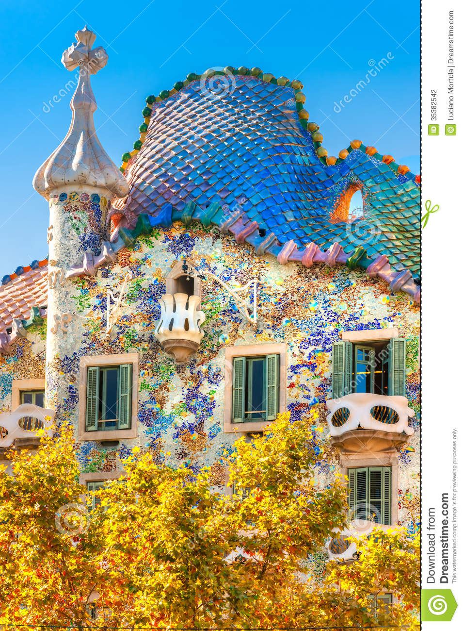 Casa Batllo, Barcelona. Stock Photography.