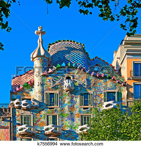 Stock Photo of Casa Battlo in Barcelona.