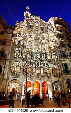 Stock Photography of Casa Batll? Batll? House by Antoni Gaudii.