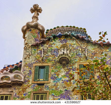 Casa Batllo Stock Photos, Royalty.