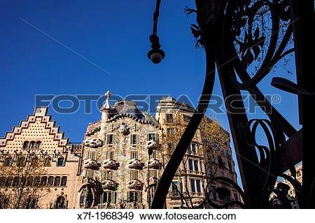 Stock Photograph of Passeig de Gracia, Amatller House Puig i.