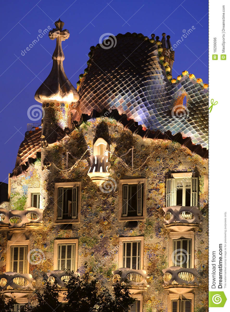 Gaudi House. Casa Batllo Royalty Free Stock Image.