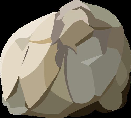 Batu dipanen vektor ilustrasi.
