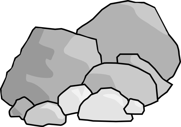 Clip Art Pile of Pebbles.