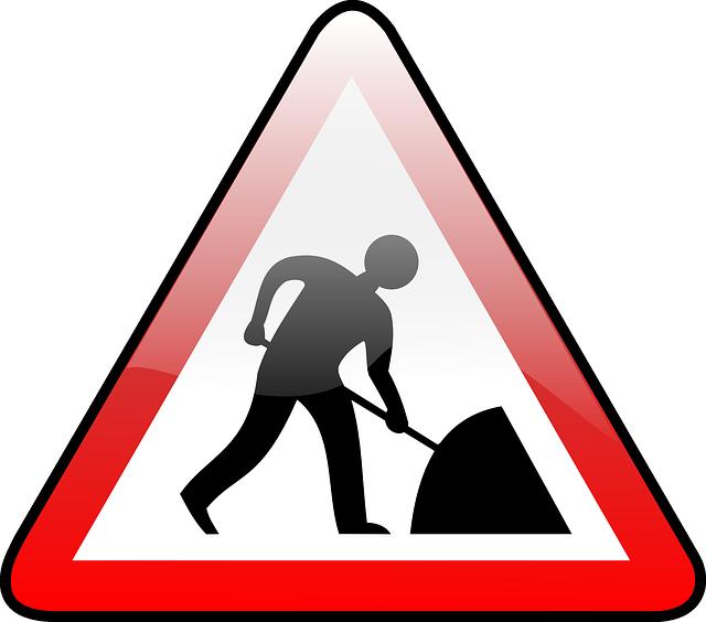 Kostenlose Vektorgrafik: Bauarbeiten, Baustellen.