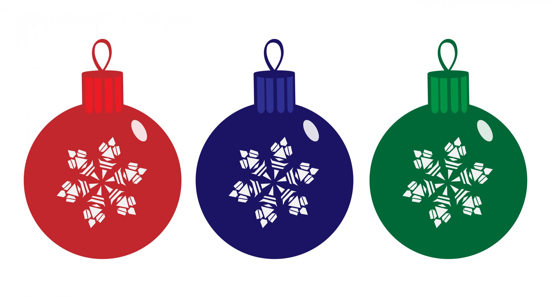 Christmas Baubles Clipart Free Stock Photo.