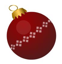 Free Christmas baubles Clip Art.