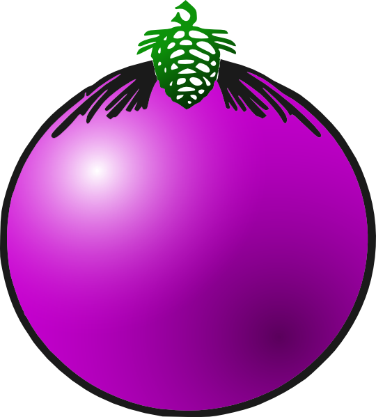 Purple Bauble Clip Art at Clker.com.