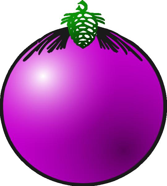 Purple Bauble Clip Art at Clker.com.