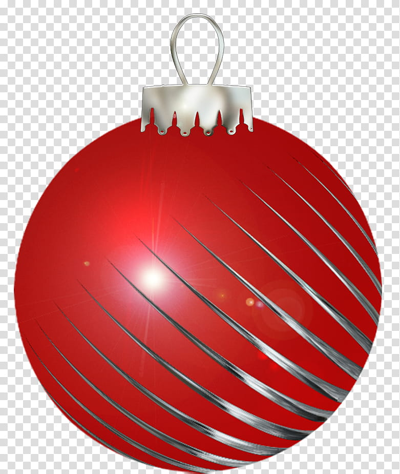 Christmas balls, red Christmas bauble transparent background PNG.