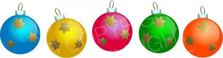 Festive Bauble Border Decoration Prawny Christmas Clip Art.