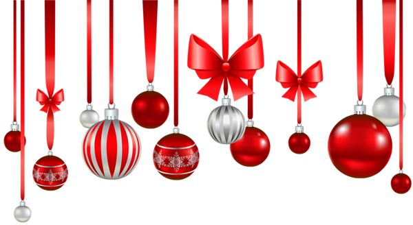 Christmas baubles clipart png.
