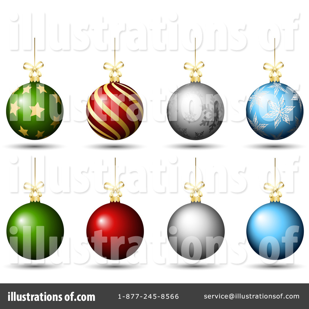 Christmas Baubles Clipart #1087464.