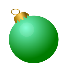 Free Christmas baubles Clip Art.