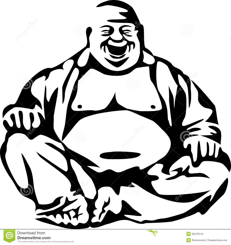 Laughing buddha clipart.