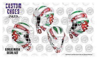 custom goalie mask design and vinyl decal kits.