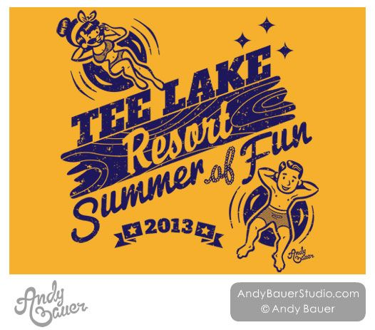 Retro Lake Tubing Clip Art Family Reunion T.