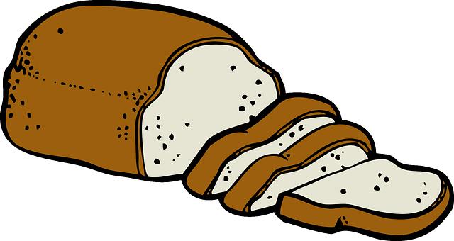 Kostenlose Vektorgrafik: Brot, Lebensmittel, Scheibe.