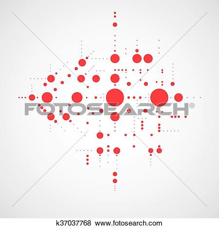 Clip Art of Vector abstract red background created in Bauhaus.