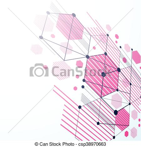 Clip Art Vector of Modular Bauhaus 3d vector magenta background.