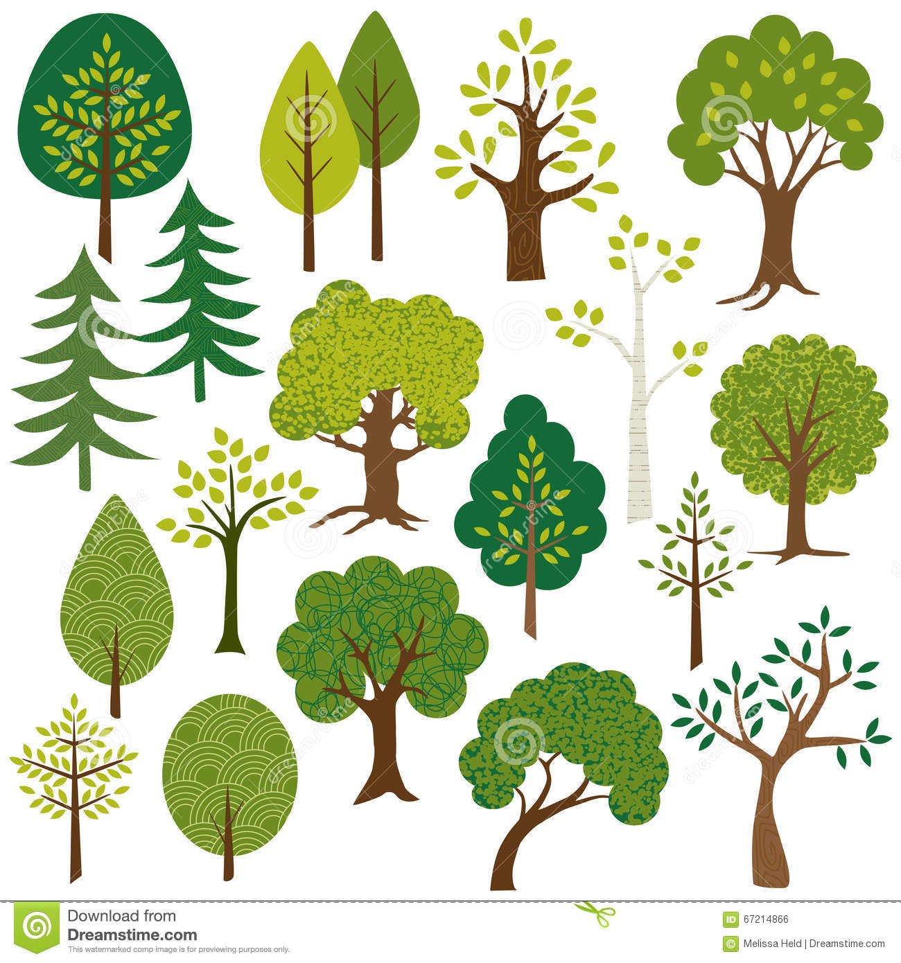Tree Clip Art Stock Illustration.